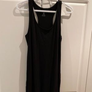 H&M Black Jersey Tank Maxi Dress Size M New
